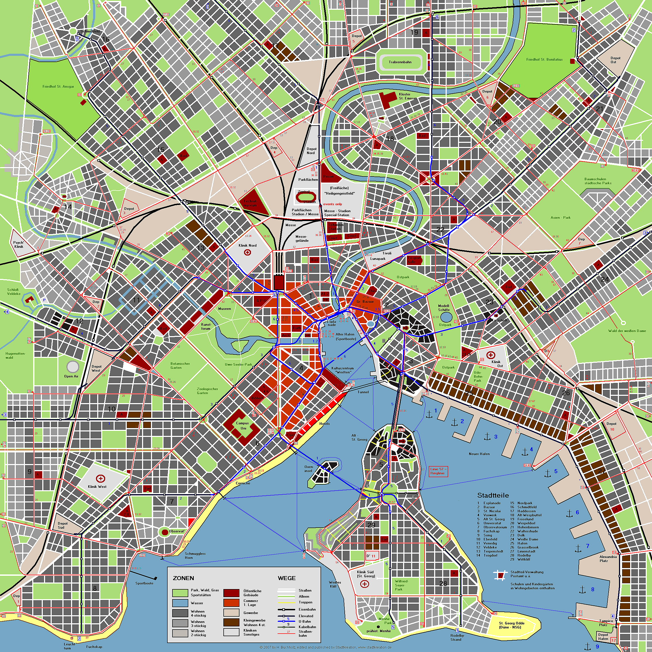 City map of Aaby