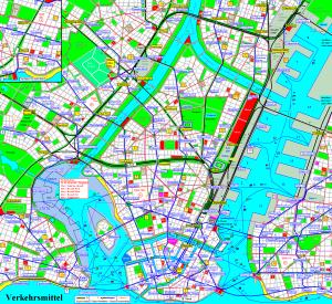 Map of transit lines