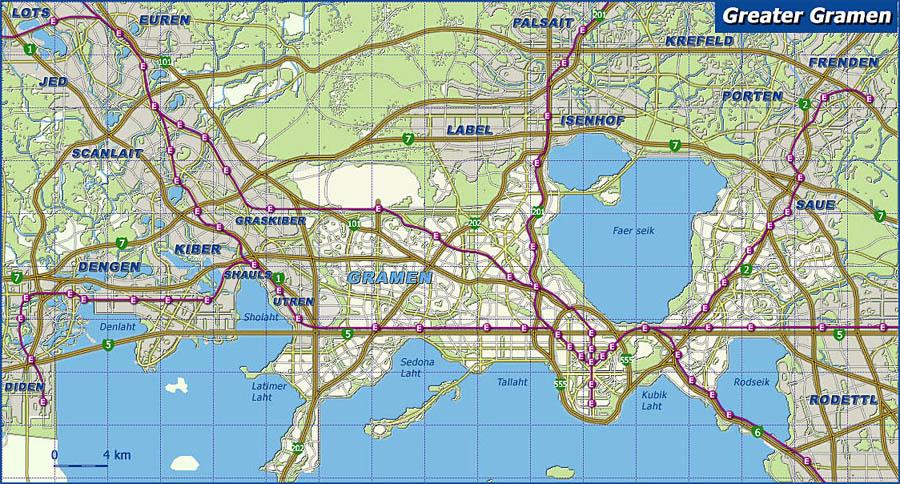 Map of Gramen region