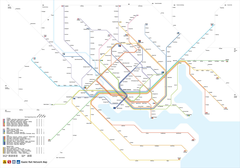Kaalst public transit network map