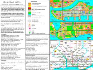 Backside of the city map with metro network