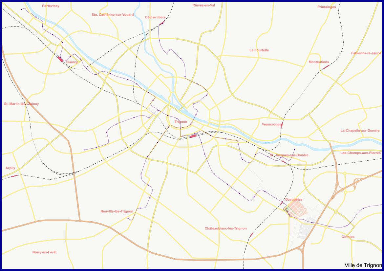 Trignon overview map