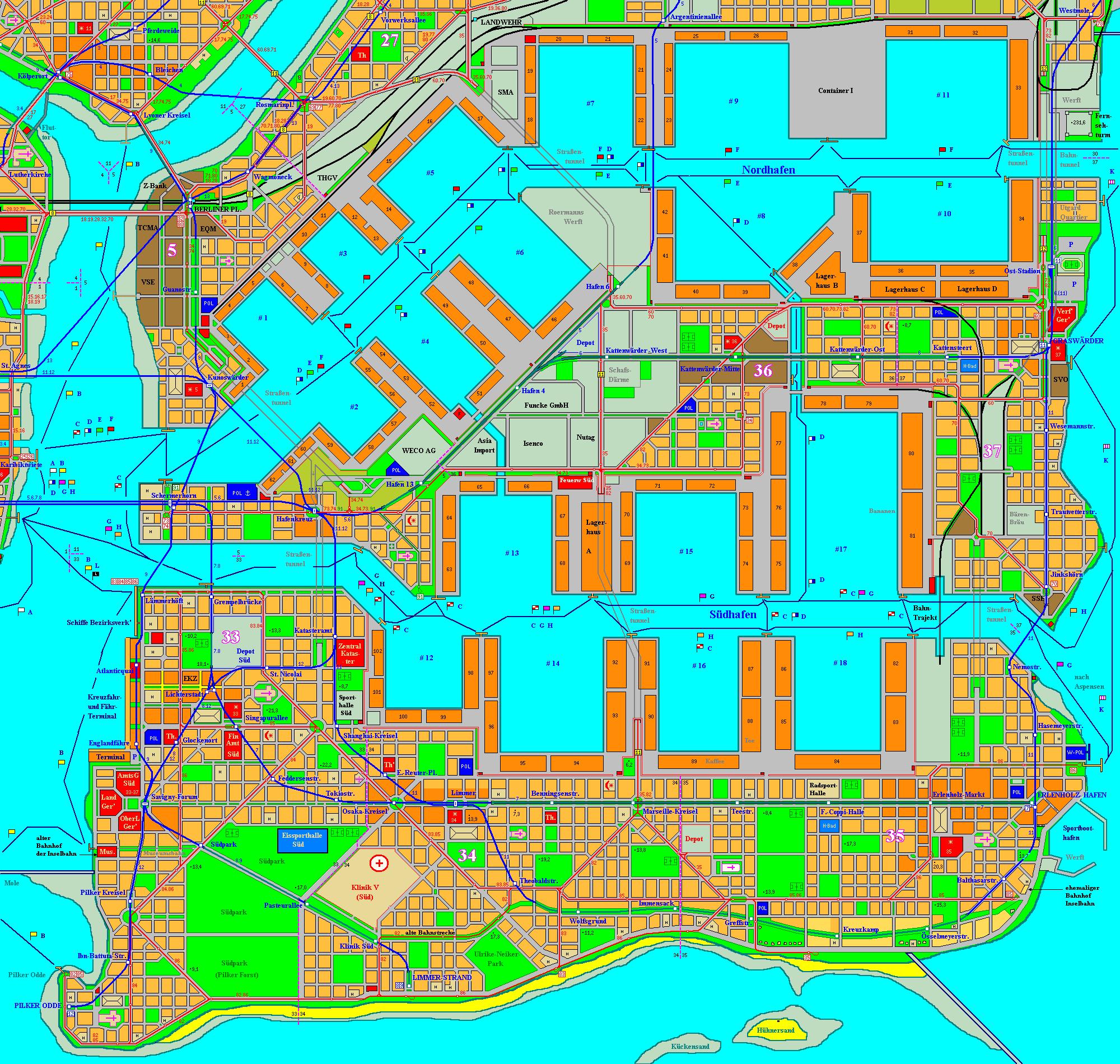 Holstenhafen map, part 3