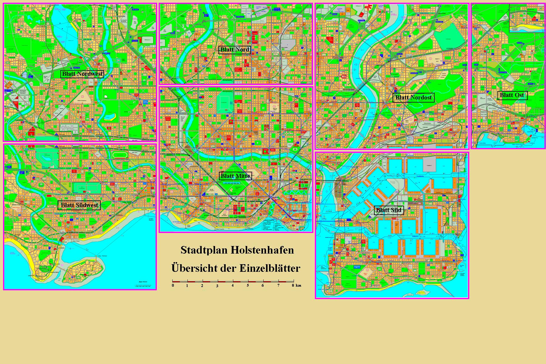 Holstenhafen overview map