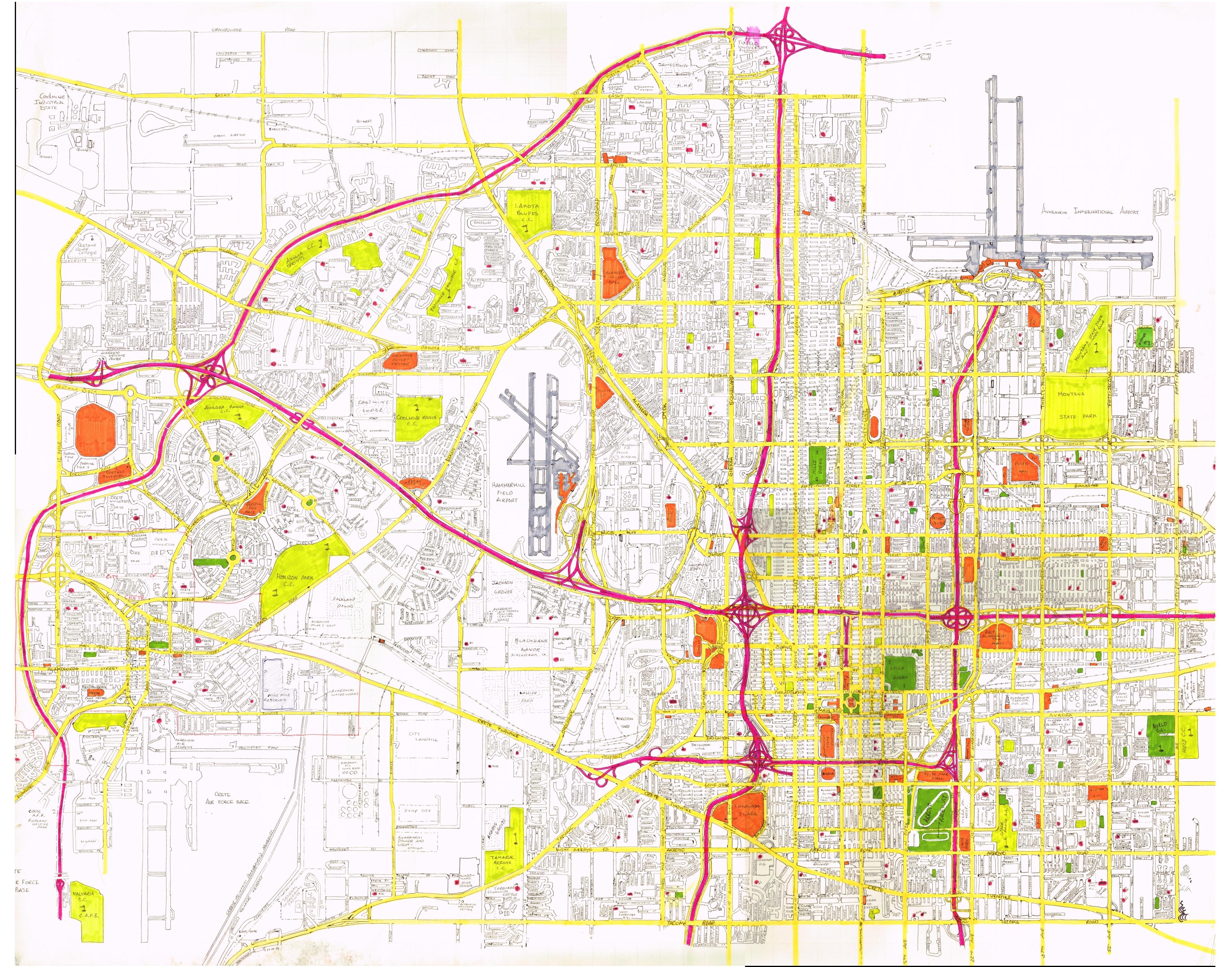 Avaranchi city map