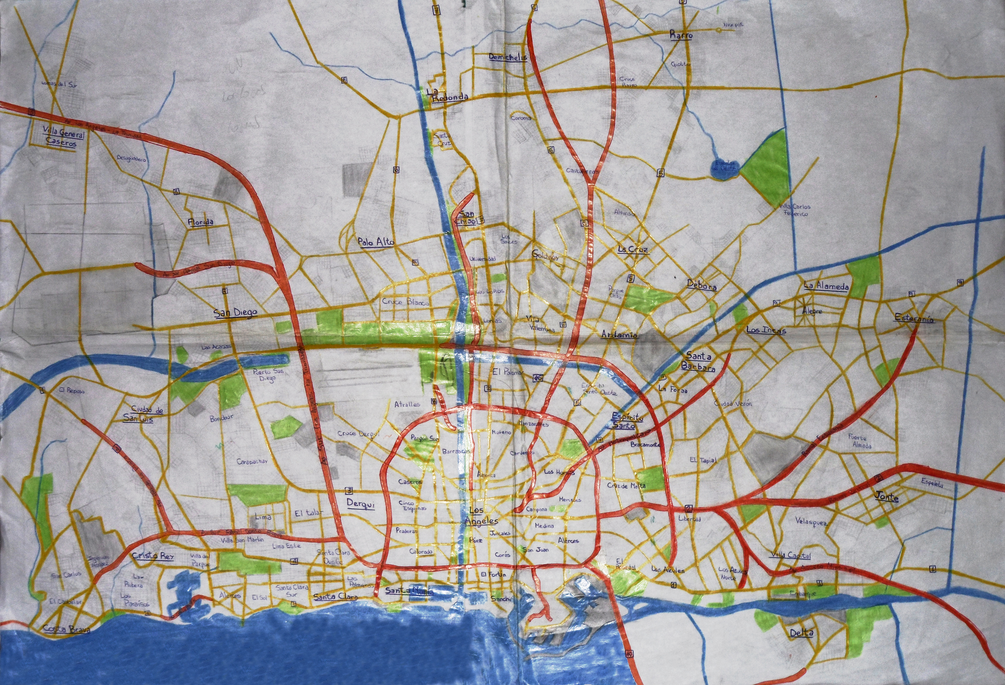 Gran Angeles overview map