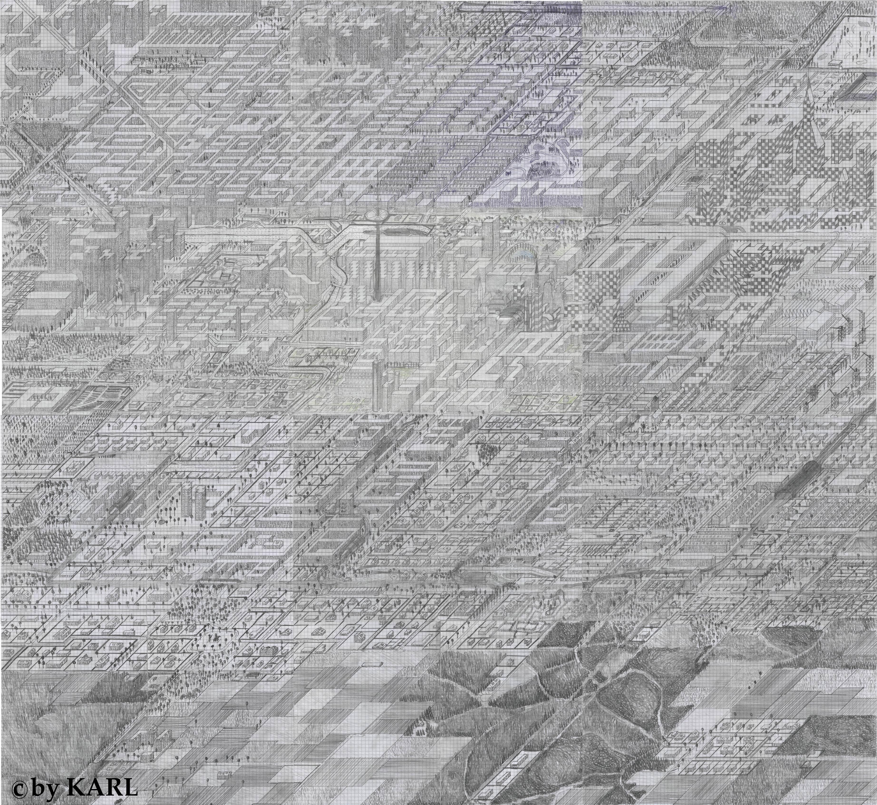 Millionenstadt map (isometric)
