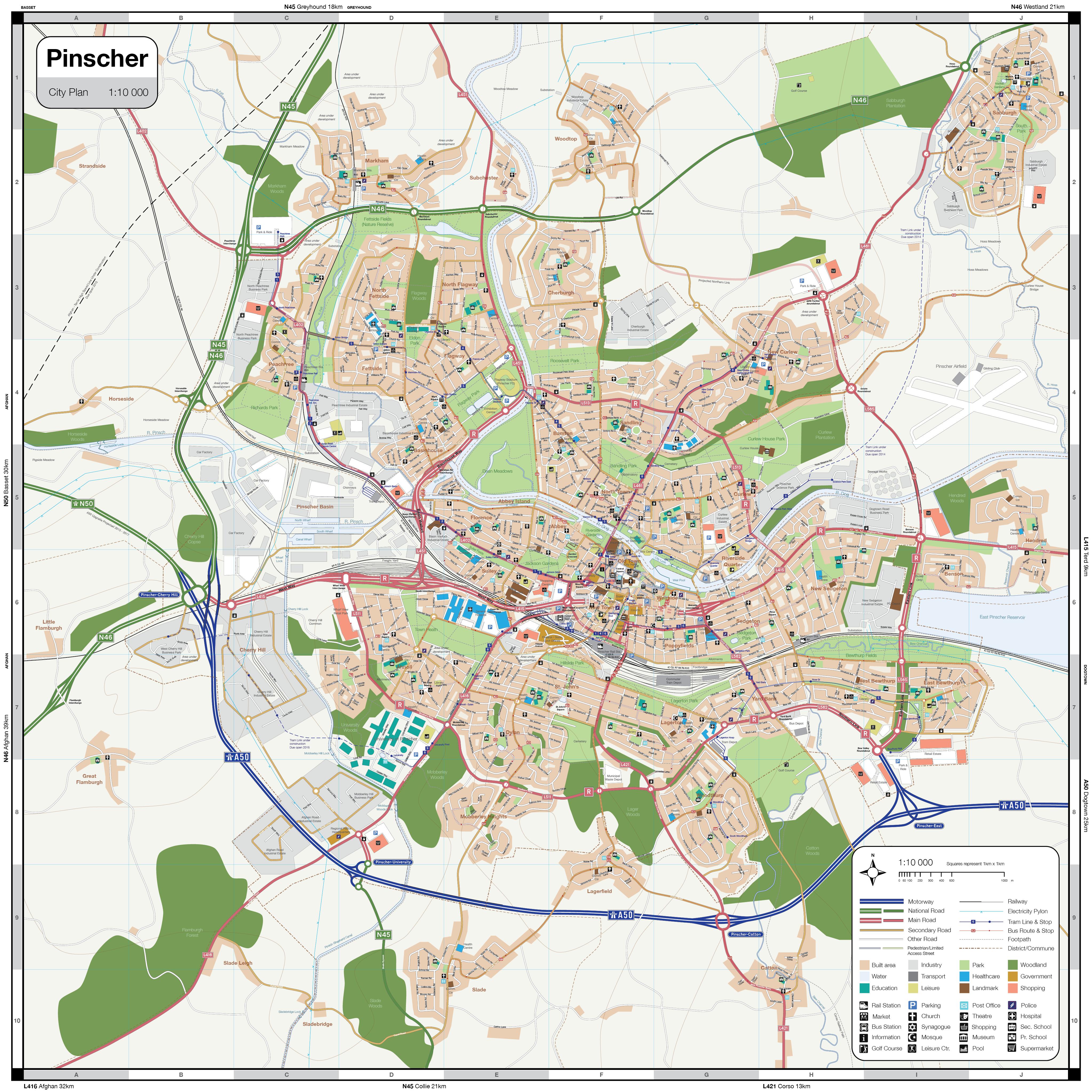 Pinscher city map