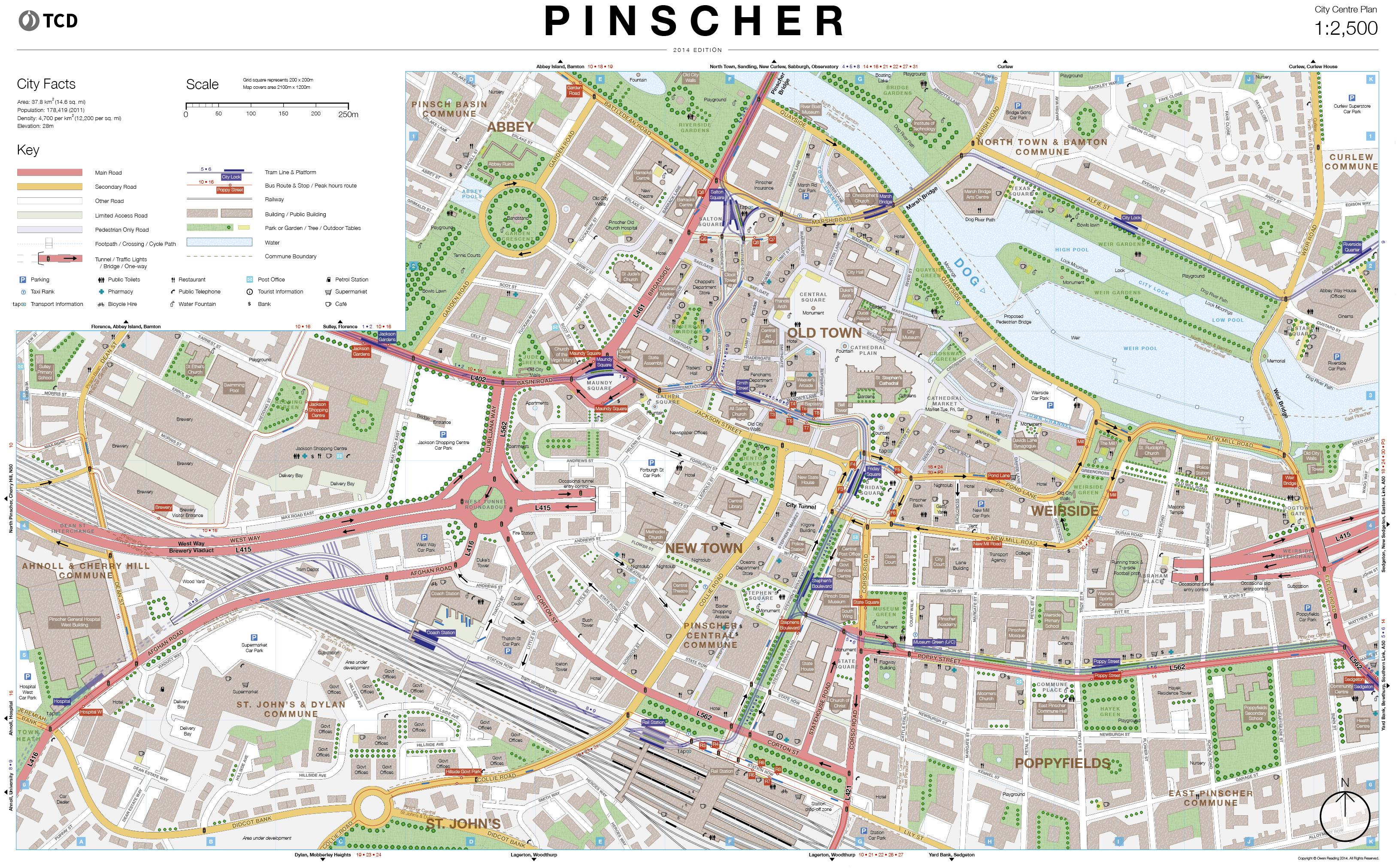 Pinscher City Centre Map