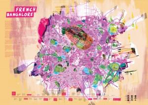 Map of Bangalore - Alternate French history