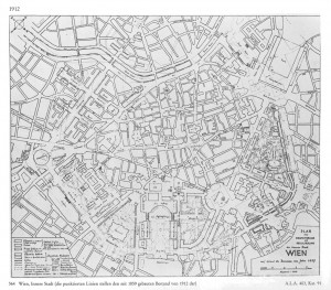 Adolf Loos: Alternate plan for the Vienna Ringstraße 1912 (original)