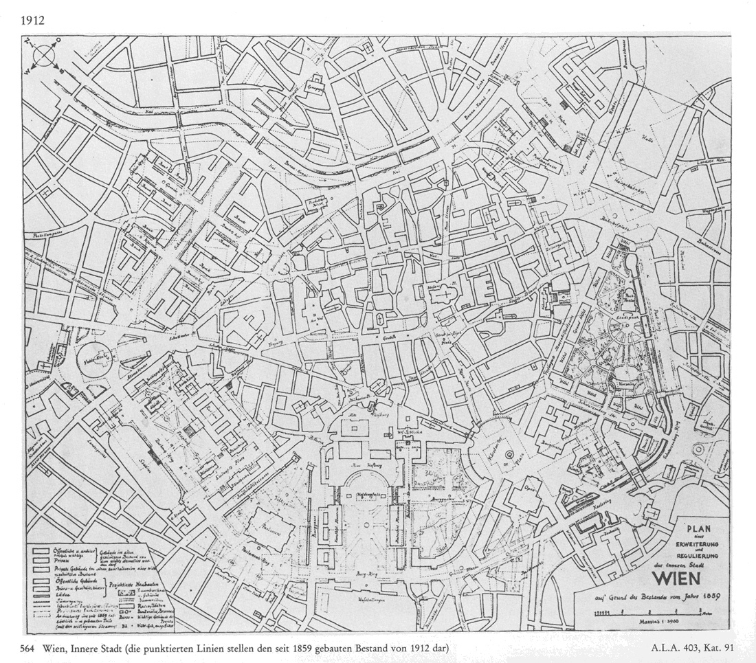 Adolf Loos: Alternate plan for the Vienna Ringstraße 1912 (original)