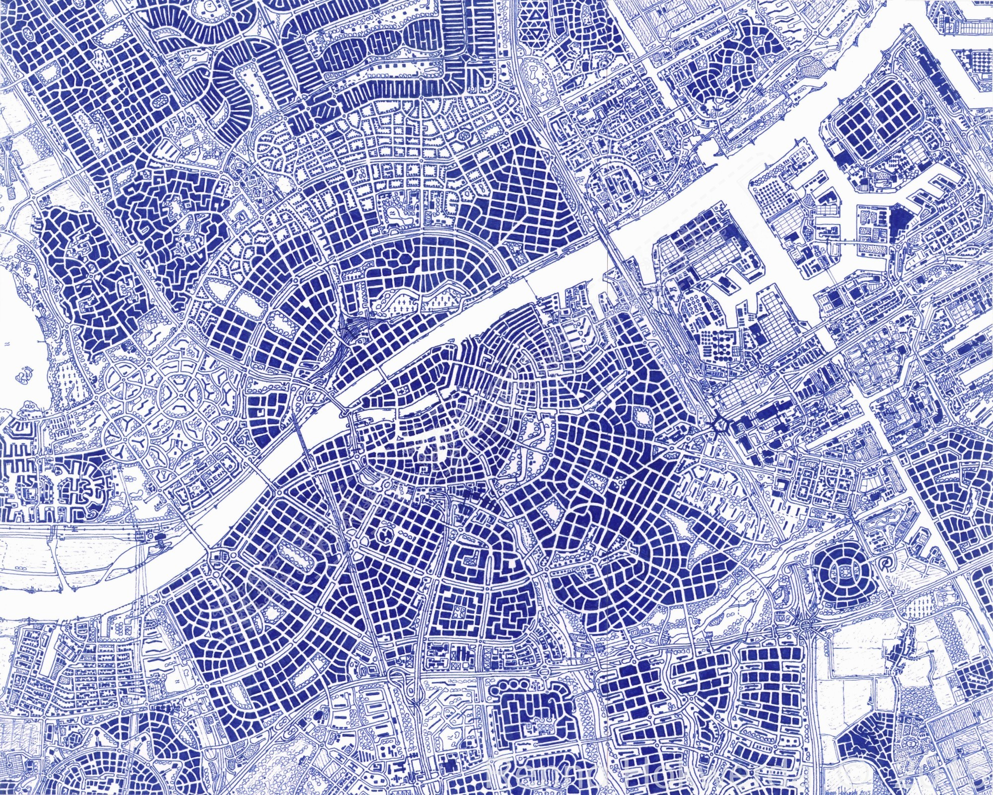 Zuverdam map (hand-drawn)