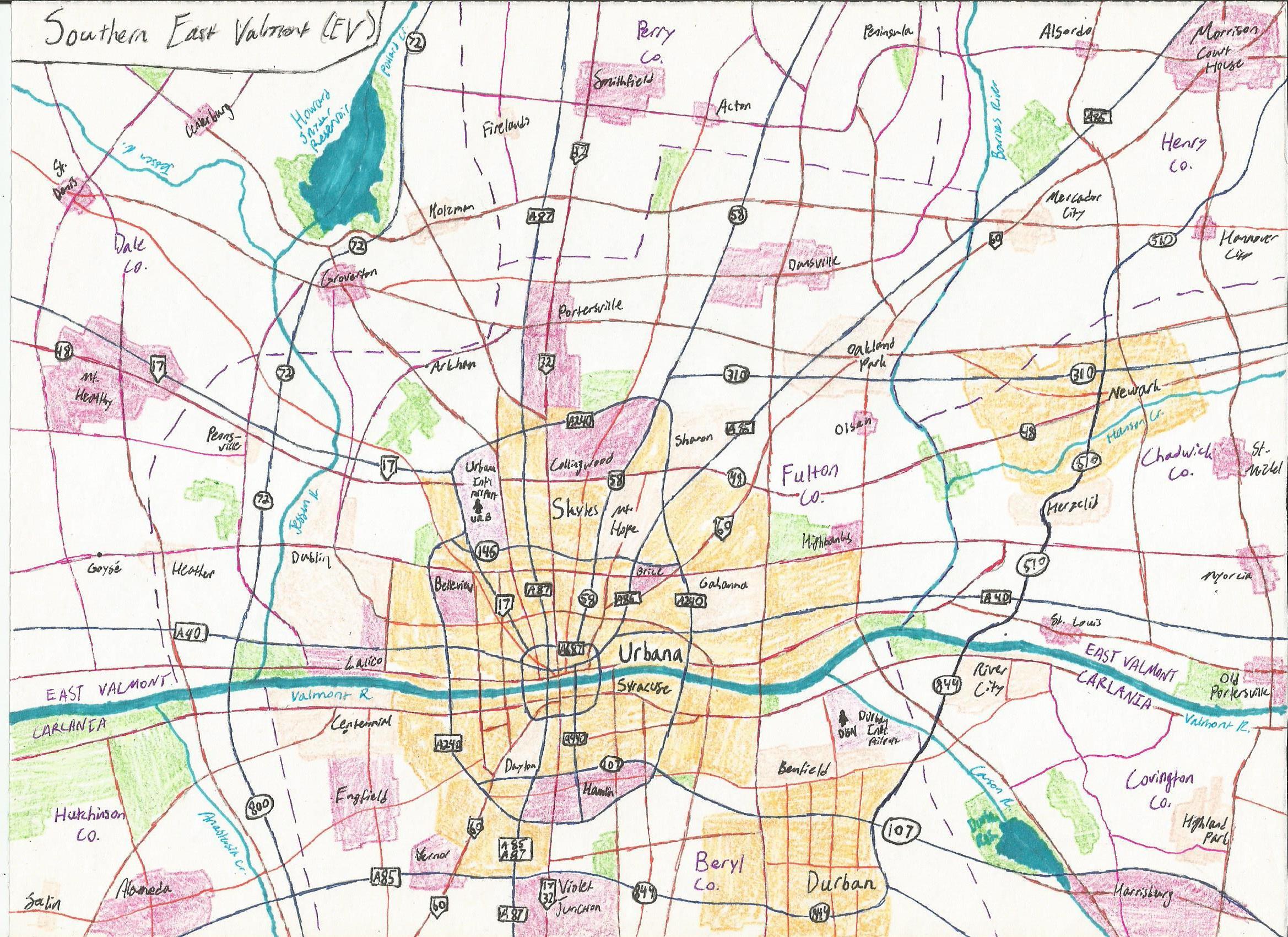 Urbana Regional Map