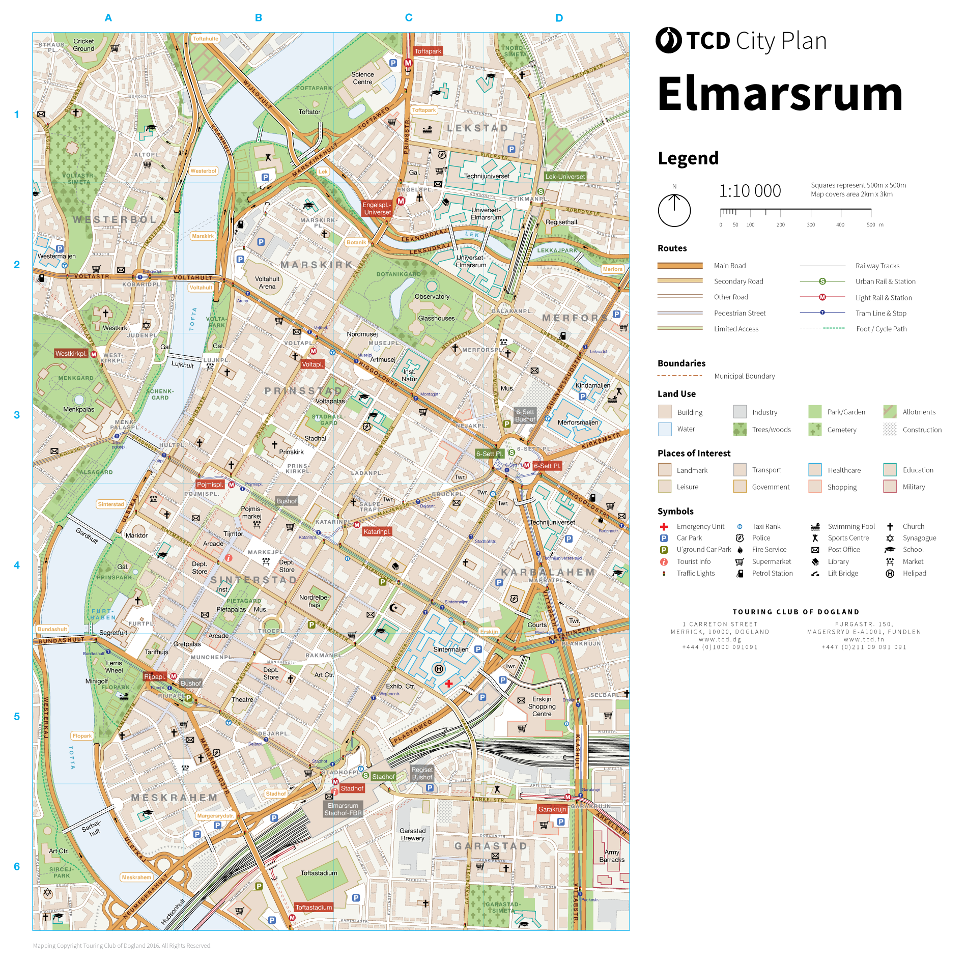 Elmarsrum inner city map